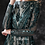 Thumbnail: Green evening gown sequin sheer layer ball gown long sleeve prom dress