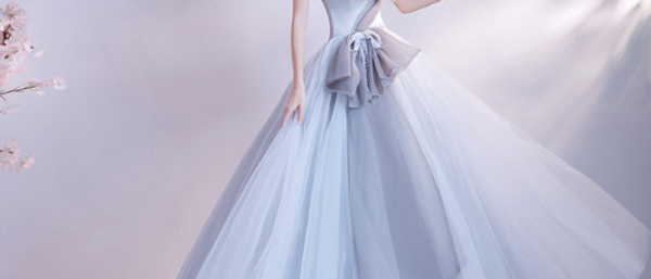 Elegant tulle long evening gown prom dress ball gown by Ivory Bliss