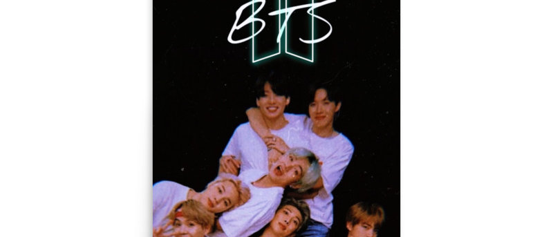 BTS K- pop logo Poster A4 and A3 size posters ARMY BTS print