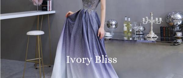Elegant Formal Spaghetti Strap Beaded Deep V-neck Sequin Blue Evening Gown