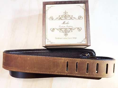 Brown top grain soft leather