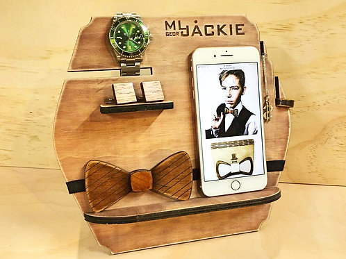 Wooden Accessory Stand  for Men's