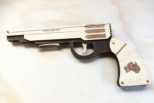Wooden rubber band gun Rev66