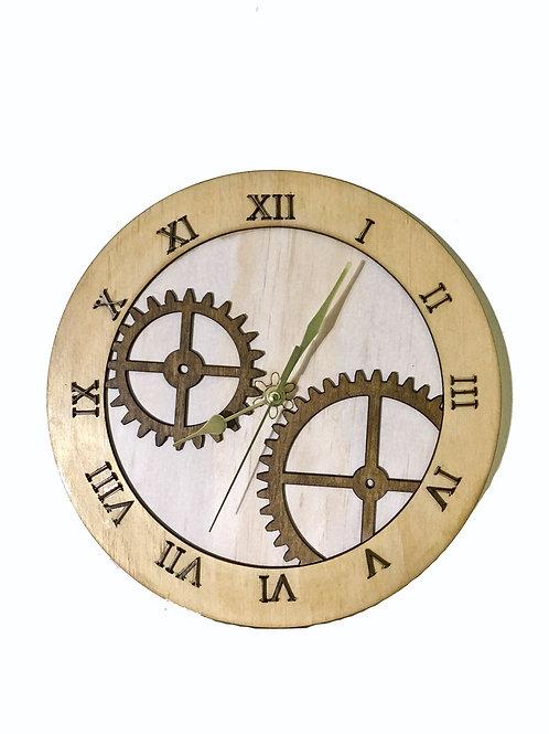 Latin Wall Clock Gear