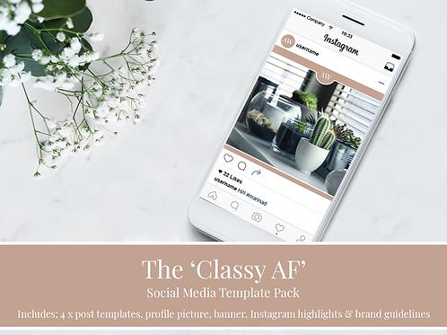 Classy AF Social Media Branding Kit