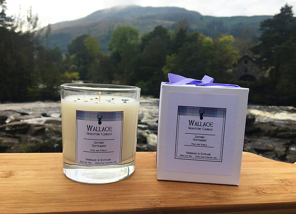 September 'Sapphire' Candle