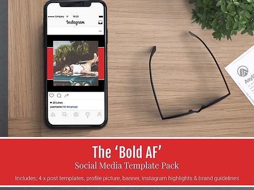 Bold AF Social Media Branding Kit