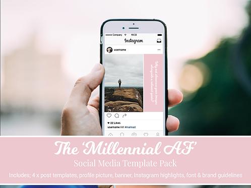 Millennial AF Social Media Branding Kit