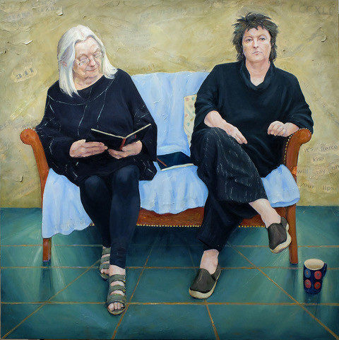 'The Poets', Claire Eastgate's double portrait of Gillian Clarke and Carol Ann Duffy