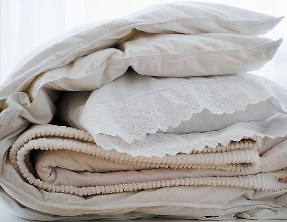 Travesseiros e cobertores