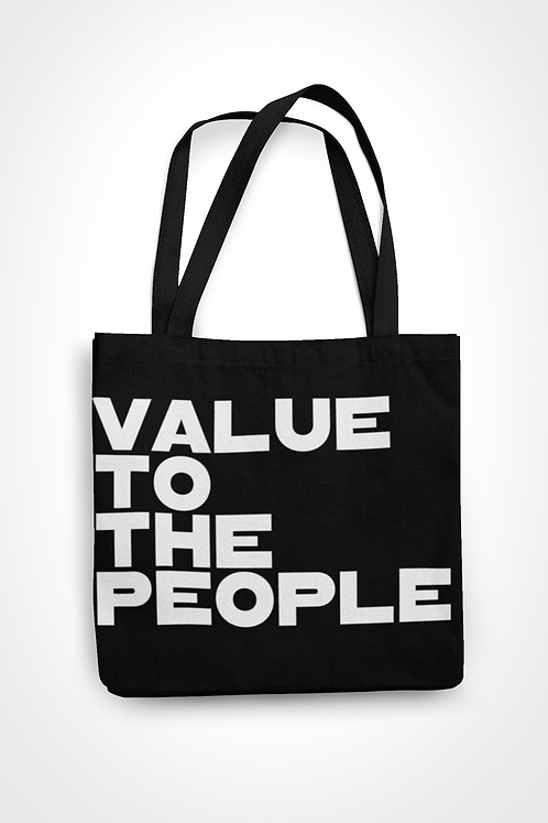 Value To The People Tote