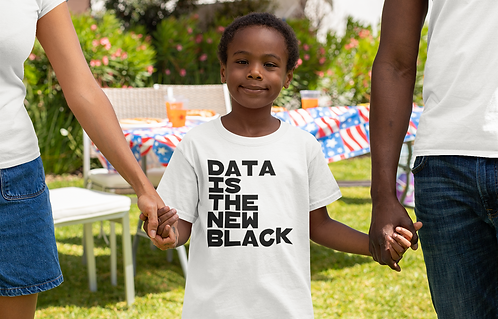Data Is The New Black Childrens Tee