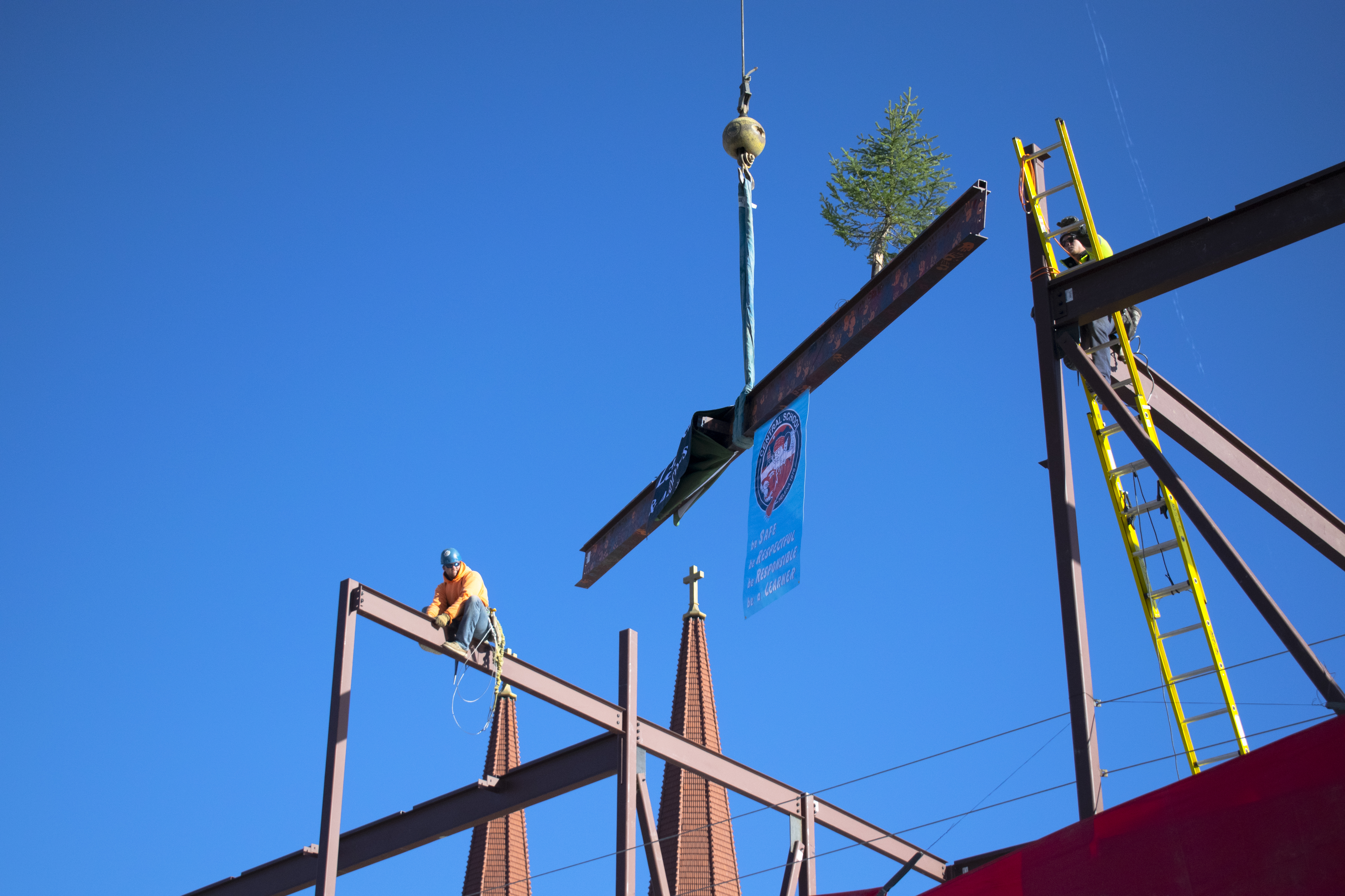 Central School Topping Out Ceremony
