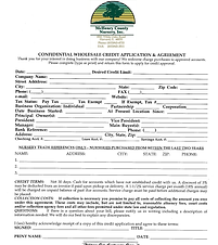 McHenry County Nursery Credit App