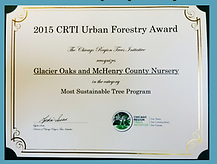 Chicago Regional Tree Initiative Forestry Award - McHenry County/Glacier Oaks Nursery