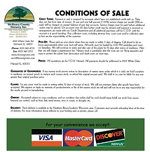 McHenry County Nursery Conditions of Sale
