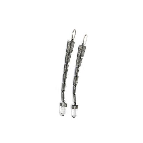 Fluidity Earrings w/ Quartz