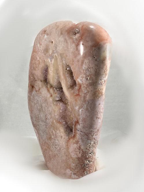 Pink Amethyst & Quartz Geode