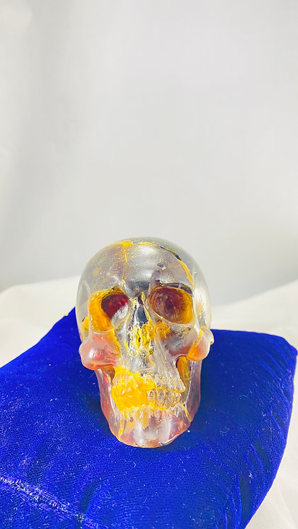 Rare Blue Amber Skull