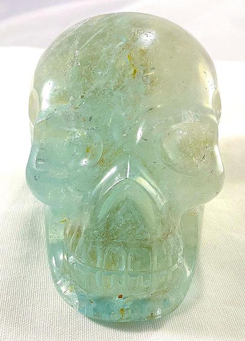 Large Rare Blue Topaz Skull