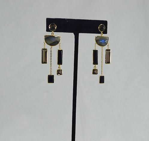 Labradorite Geo Earrings - GP
