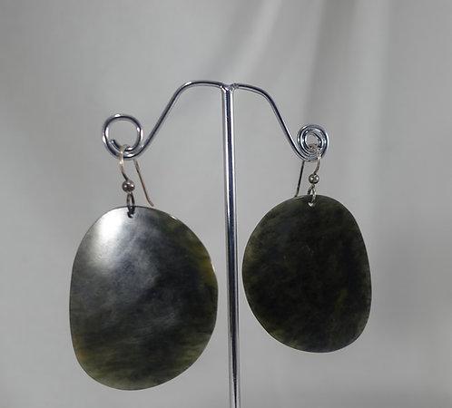 Big Sur Jade Dark Earrings SS