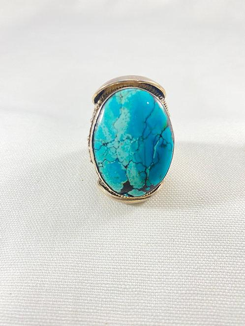 Tibetan Turquoise Sterling Silver Ring