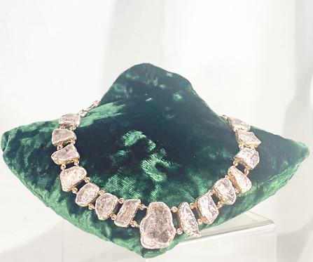 Rare Raw Morganite Necklace - SS