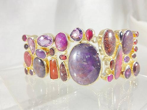 Multi Stone Bracelet - SS