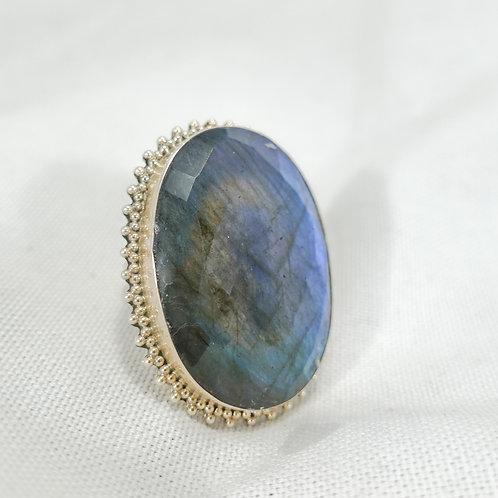Labradorite Ring - Crown SS