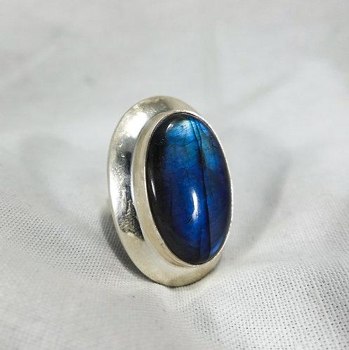 Labradorite Oval Ring - SS