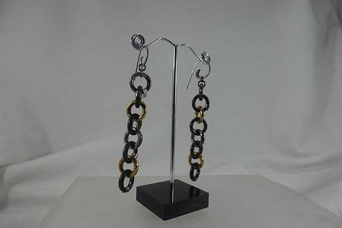 Multi-Ring SS Hook Earrings