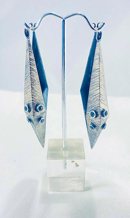 Blue Topaz on Silver Earrings - The Odyssey Earring