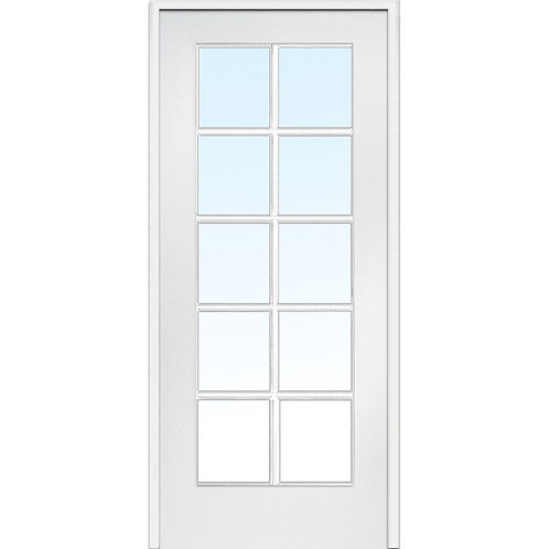 MMI Door Composite Clear 10 Lite Single Prehung Interior Door