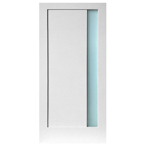 Stile Doors 1-Lite Narrow Satin Etch Solid Core  Interior Door Slab