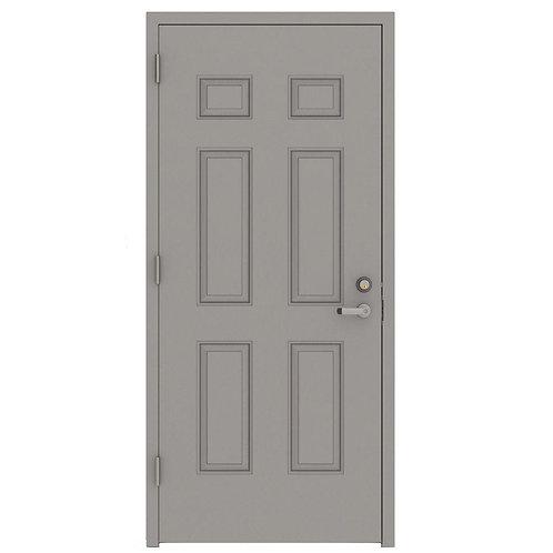 L.I.F. Industries 6-Panel Security Steel Prehung Commercial Door w/ Welded Frame