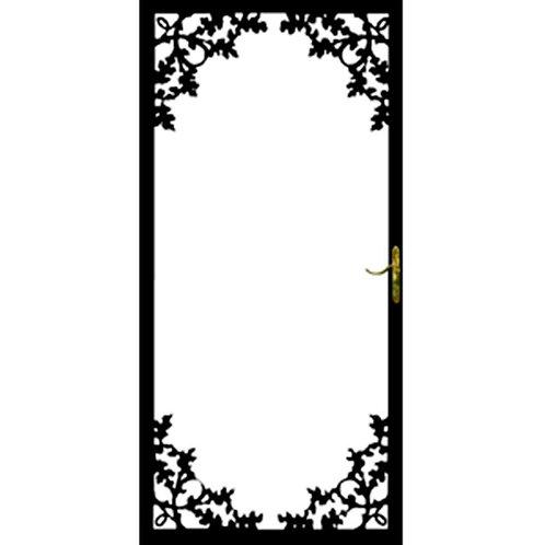 Grisham 334 Series Black Charlotte Security Door