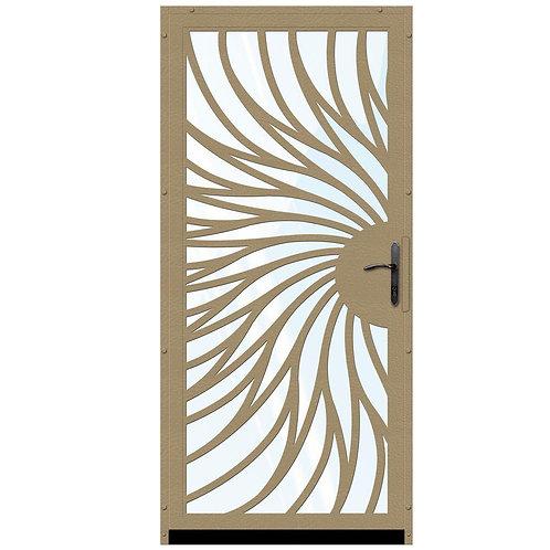 Unique Home Designs Solstice Security Door w/ Shatter-resistant Glass & Bronze