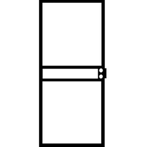 Grisham 420 Series Black Nevada Security Door