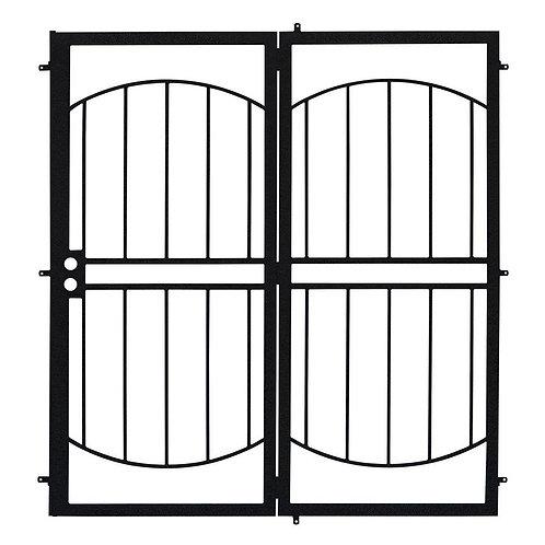 Unique Home Designs Arcada Projection Mount Security Door w/ No Screen