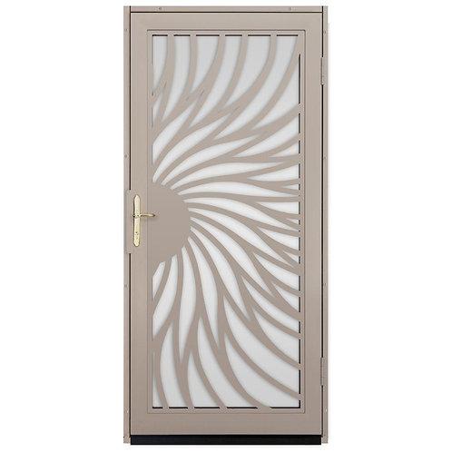 Unique Home Designs Solstice Security Door w/ Shatter-resistant Glass & Brass