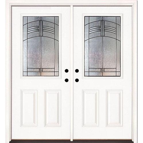 Feather River Doors Rochester Patina Fiberglass Prehung Double Front Doors