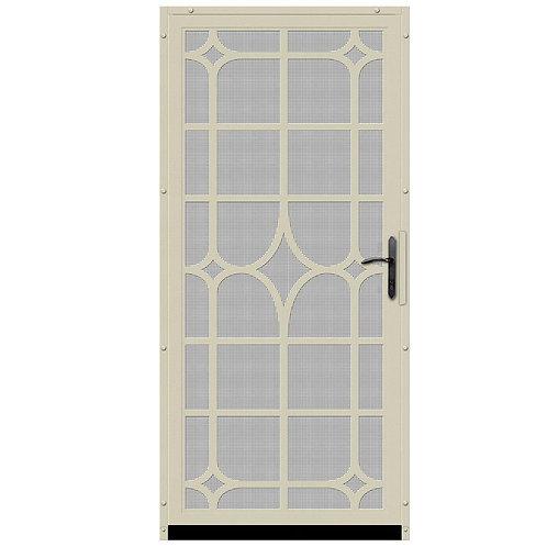 Unique Home Designs Lexington Security Door w/ Insect Screen & Bronze Hardware