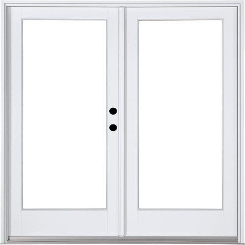 MP Doors Fiberglass Smooth Inswing Hinged French Patio Door