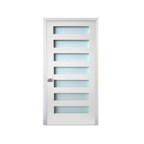 Stile Doors 7-Lite Satin Etch Solid Core MDF Prehung Interior Door