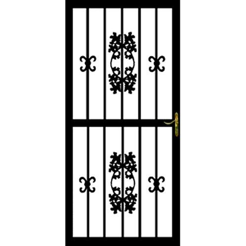 Grisham 300 Series Black Hickory Security Door