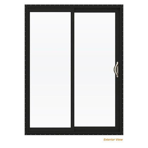 JELD-WEN V-2500 Vinyl Full Lite Sliding Patio Door w/ White Interior