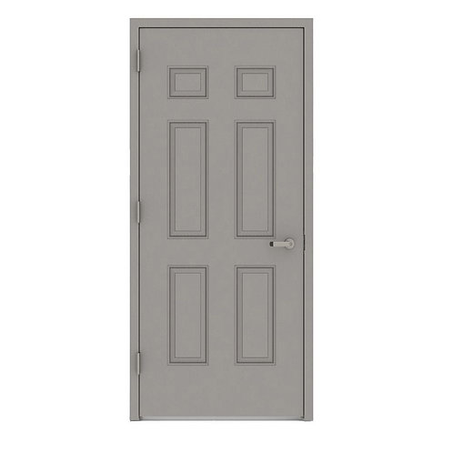 L.I.F. Industries 6-Panel Fire Prehung Commercial Entrance Door (Welded Frame)