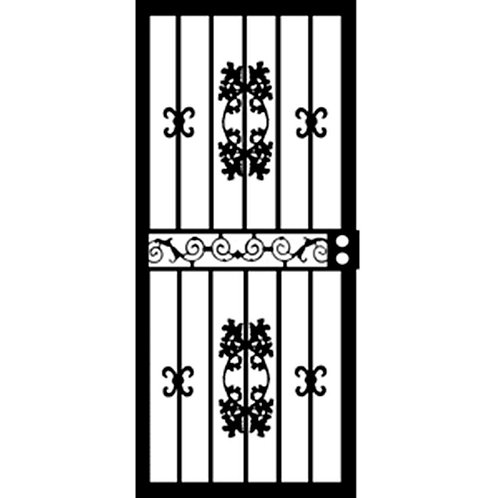 Grisham 400 Series Black St. Louis Security Door