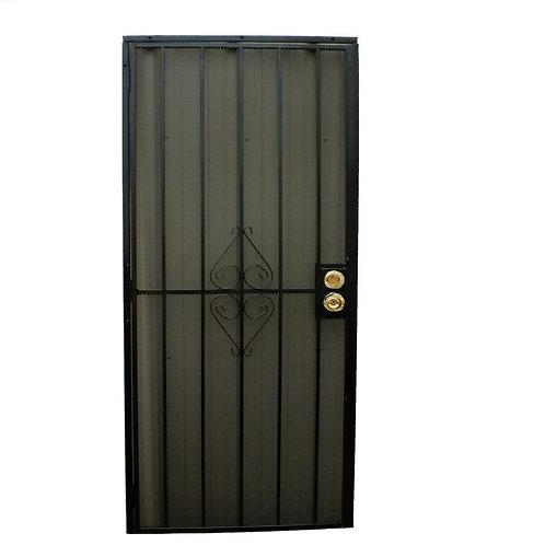 Grisham 808 Series Security Door w/ Expanded Metal Screen
